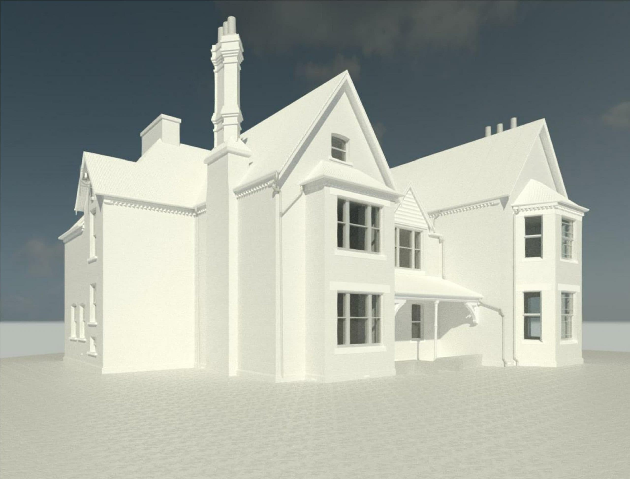 Rendering Model of Detached House