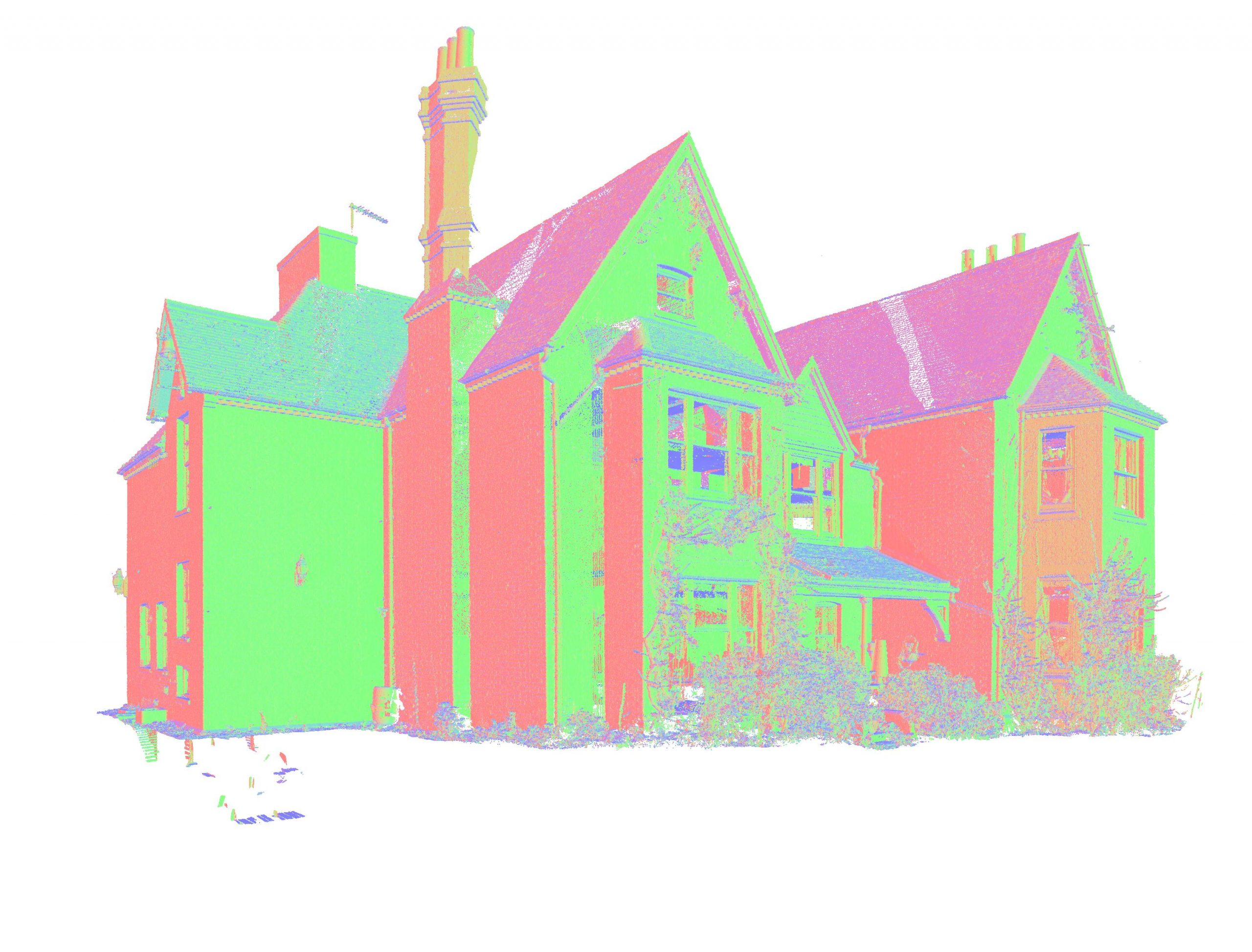 Point Cloud of the detached House